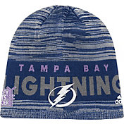 adidas Men's Tampa Bay Lightning Hockey Fights Cancer Navy Knit Beanie
