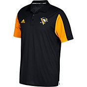 adidas Men's Pittsburgh Penguins Authentic Pro Game Day Black Performance Polo