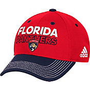 adidas Men's Florida Panthers Locker Room Red Structured Fitted Flex Hat