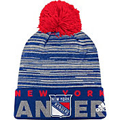 adidas Men's New York Rangers Locker Room Royal Pom Knit Beanie