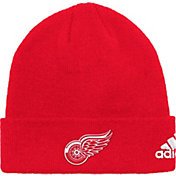 adidas Men's Detroit Red Wings Basic Red Knit Beanie