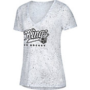 adidas Women's Los Angeles Kings Script Tail White V-Neck T-Shirt