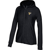 adidas Women's Pittsburgh Penguins Logo Black Full-Zip Hoodie