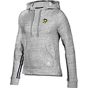 adidas Women's Pittsburgh Penguins Team Stitch Heather Grey Pullover Hoodie