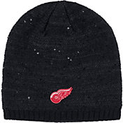 adidas Women's Detroit Red Wings Fashion Black Beanie