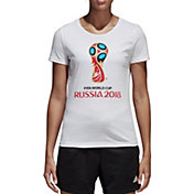 adidas Women's 2018 World Cup Russia Logo White T-Shirt