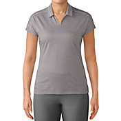 adidas Women's Tonal Stripe Cap Sleeve Golf Polo