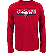 adidas Youth Chicago Fire Dassler Long Sleeve Red T-Shirt