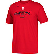 "adidas Youth Houston Rockets 2017 NBA Playoffs ""Run As One"" Red T-Shirt"