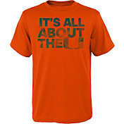 adidas Youth Miami Hurricanes Orange 'It's All About the U' T-Shirt