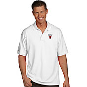 Antigua Men's Chicago Bulls Xtra-Lite White Pique Performance Polo