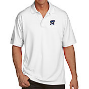 Antigua Men's Creighton Bluejays White Pique Xtra-Lite Polo