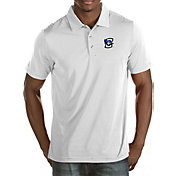 Antigua Men's Creighton Bluejays White Quest Polo