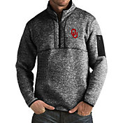 Antigua Men's Oklahoma Sooners Black Fortune Pullover Jacket