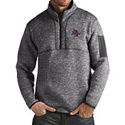 Antigua Men's Tulsa Golden Hurricane Grey Fortune Pullover Jacket