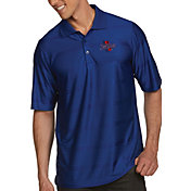 Antigua Men's Tulsa Golden Hurricane Blue Illusion Polo