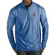 Antigua Men's Tulsa Golden Hurricane Blue Tempo Half-Zip Pullover
