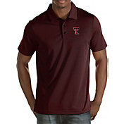 Antigua Men's Texas Tech Red Raiders Black Quest Polo
