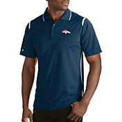 Antigua Men's Denver Broncos Merit Navy Xtra-Lite Polo