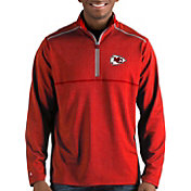 Antigua Men's Kansas City Chiefs Prodigy Quarter-Zip Red Pullover