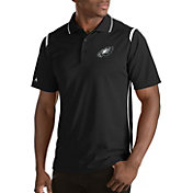 Antigua Men's Philadelphia Eagles Merit Black Xtra-Lite Polo