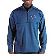 Antigua Men's Detroit Lions Prodigy Quarter-Zip Blue Pullover