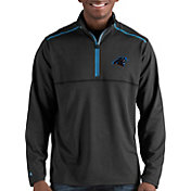 Antigua Men's Carolina Panthers Prodigy Quarter-Zip Black Pullover