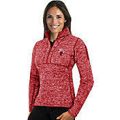 Antigua Women's Chicago Bulls Fortune Red Half-Zip Pullover