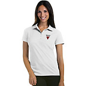 Antigua Women's Chicago Bulls Xtra-Lite White Pique Performance Polo