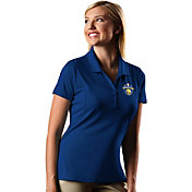 Antigua Women's 2017 NBA Champions Golden State Warriors Pique Royal Performance Polo