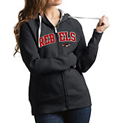 Antigua Women's UNLV Rebels Grey Victory Full-Zip Hoodie