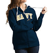 Antigua Women's Navy Midshipmen Navy Victory Full-Zip Hoodie