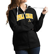 Antigua Women's Appalachian State Mountaineers Black Victory Full-Zip Hoodie