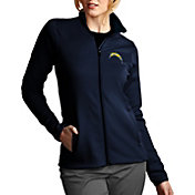 Antigua Women's Los Angeles Chargers Leader Full-Zip Navy Jacket