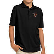 Antigua Youth Bowling Green Falcons Black Pique Polo