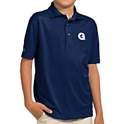 Antigua Youth Georgetown Hoyas Blue Pique Polo