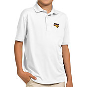 Antigua Youth Northern Iowa Panthers  White Pique Polo