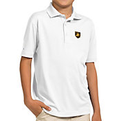 Antigua Youth Army West Point Black Knights White Pique Polo