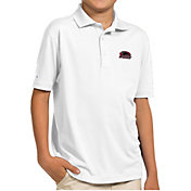 Antigua Youth Southern Illinois  Salukis White Pique Polo
