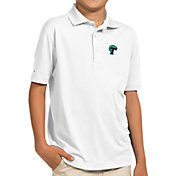 Antigua Youth Tulane Green Wave White Pique Polo