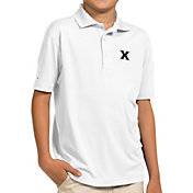 Antigua Youth Xavier Musketeers White Pique Polo