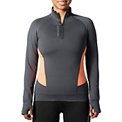 SECOND SKIN Women's Cold Weather Compression 1/4 Zip Long Sleeve Top