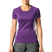 SECOND SKIN Women's Stripe Short Sleeve Training Top