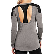 CALIA by Carrie Underwood Women's Mesh Racerback Heather Long Sleeve Shirt
