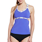 CALIA by Carrie Underwood Women's Cutout Tankini Top