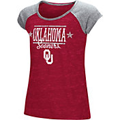 Colosseum Youth Girls' Oklahoma Sooners Crimson Sprint T-Shirt