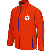 Colosseum Men's Clemson Tigers Orange Barrier Full Zip Wind Jacket