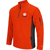 Colosseum Men's Clemson Tigers Orange Advantage Quarter-Zip Jacket