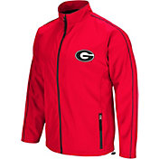 Colosseum Men's Georgia Bulldogs Red Barrier Full Zip Wind Jacket