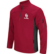 Colosseum Men's Oklahoma Sooners Crimson Advantage Quarter-Zip Jacket